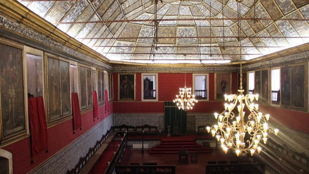 Sala dos Capelos onde se realizam provas de doutoramento