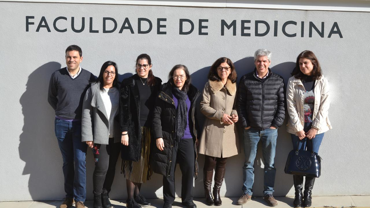 The MED4youth team at UC (from the left to the right): Paulo Matafome, Ana Salomé Pires, Ana Margarida Abrantes, Maria Filomena Botelho, Raquel Seiça, António Pires and Paula Martins