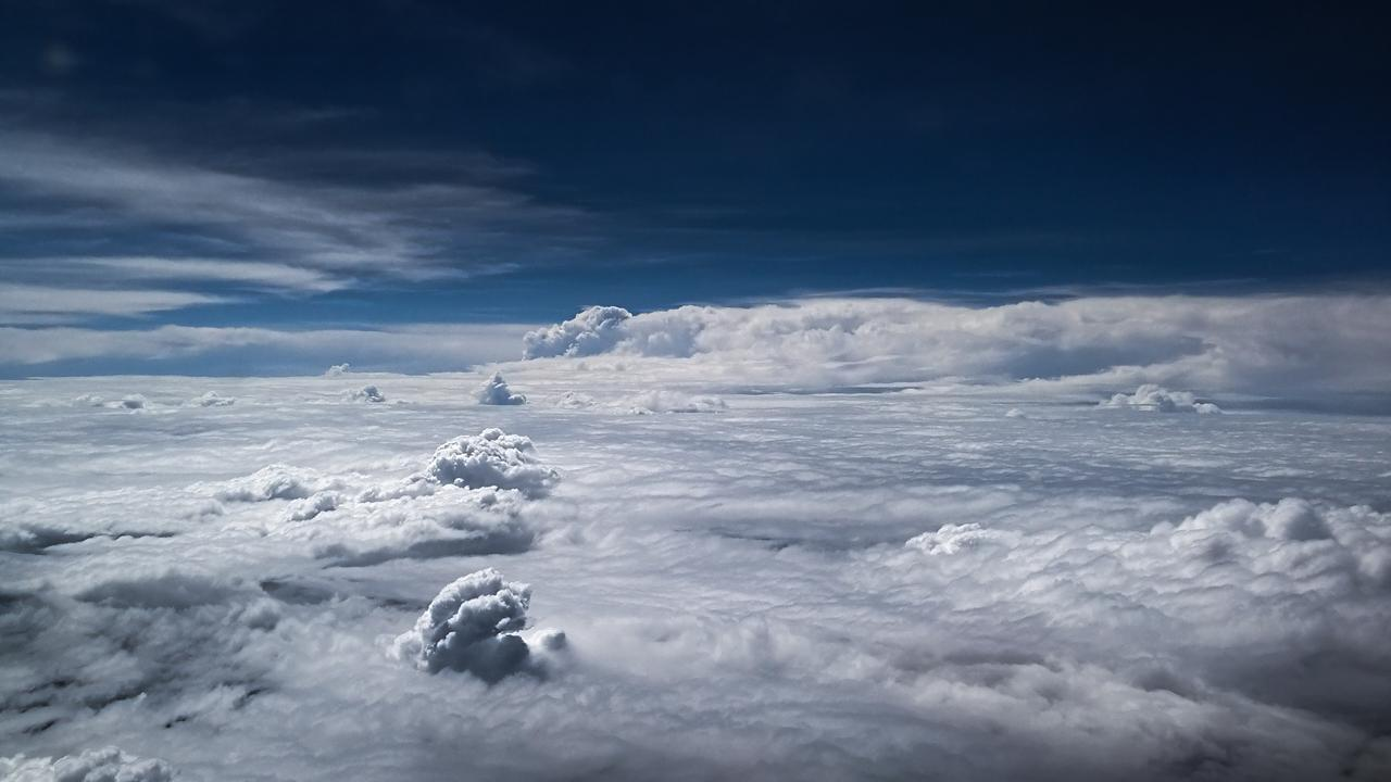 Aerial photography of a sea of clouds