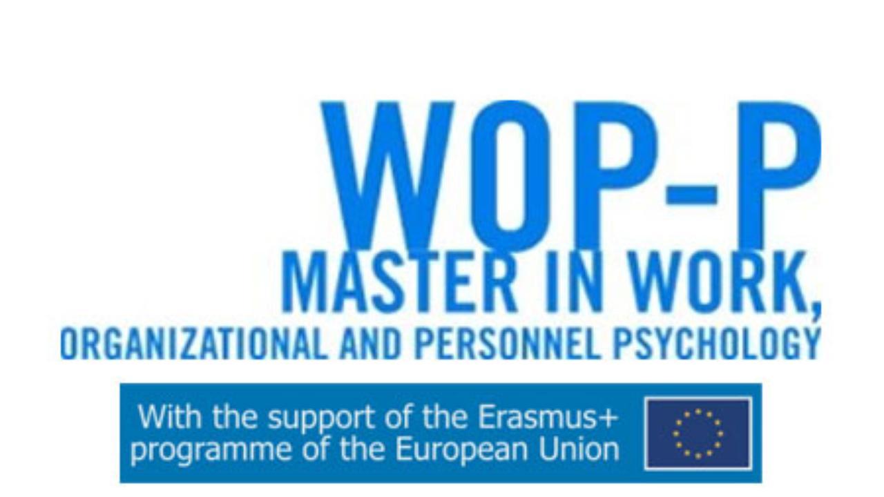 Faculdade de Psicologia e de Ciências da Educação tem Mestrado Internacional em Psicologia do Trabalho, das Organizações e dos Recursos Humanos financiado pela Comissão Europeia pela 4ª vez consecutiva