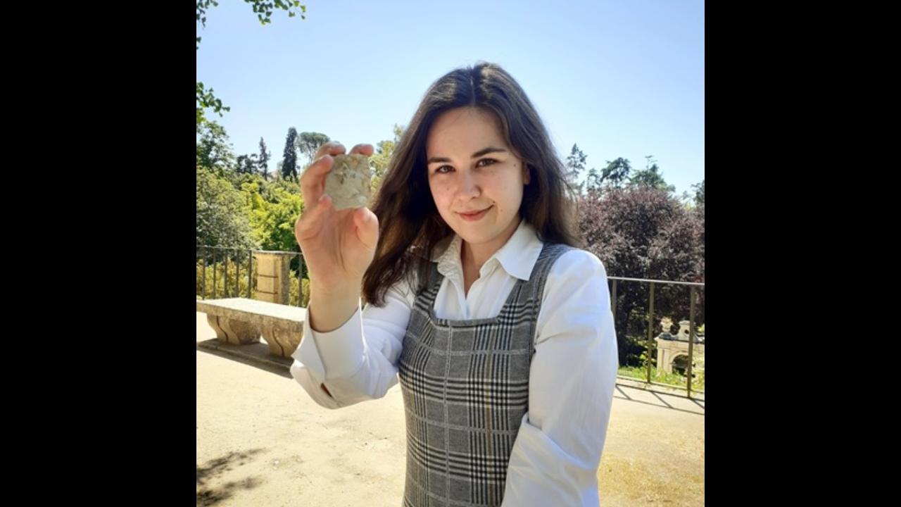 Andreia Nunes, estudante de Mestrado do Departamento de Ciências da Terra