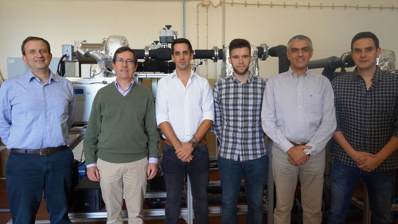 Da esq. para a direita: José Baranda Ribeiro, Jorge André, Eduardo Costa, João Pereira, Ricardo Mendes e Márcio Santos