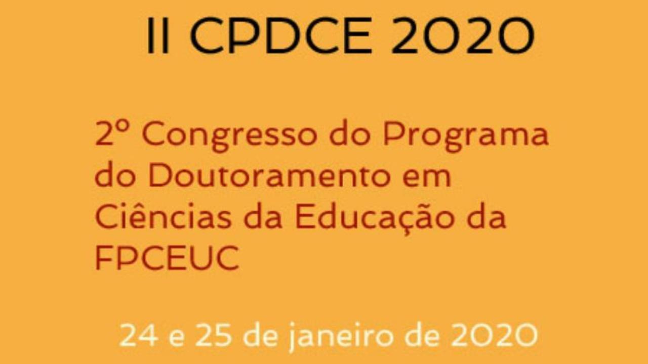 II Congresso do Programa do Doutoramento em Ciências da Educação da FPCEUC