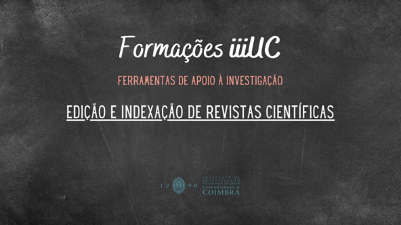 Formação iiiUC: gestão editorial no OJS e indexação