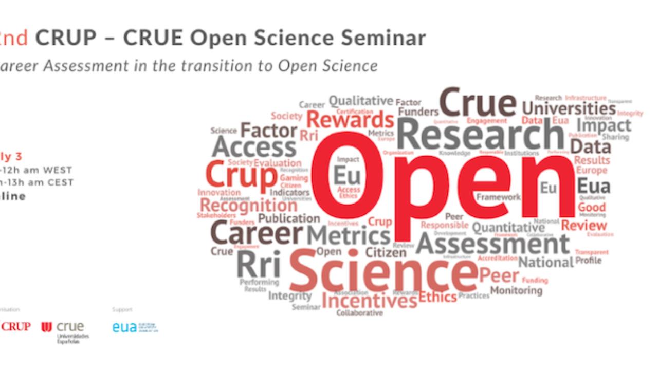 Segundo seminário Ciência Aberta CRUP-CRUE