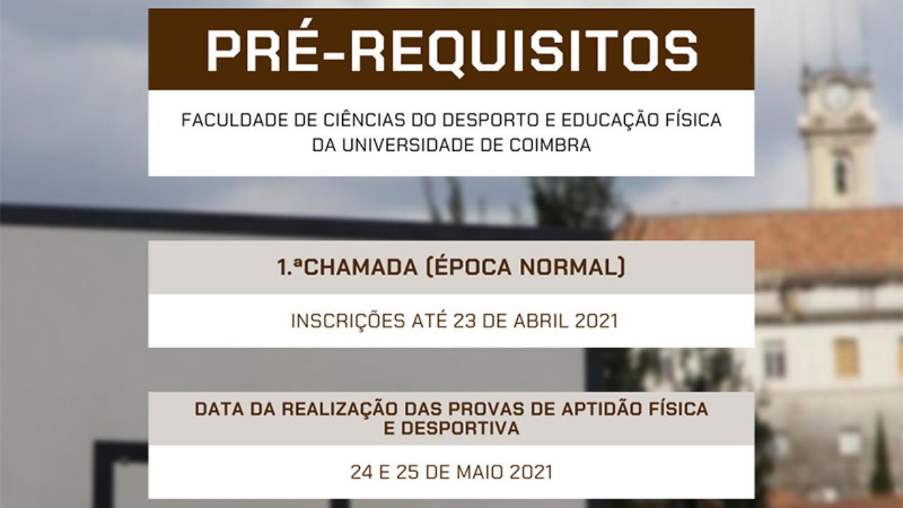 Pré-requisitos 2021