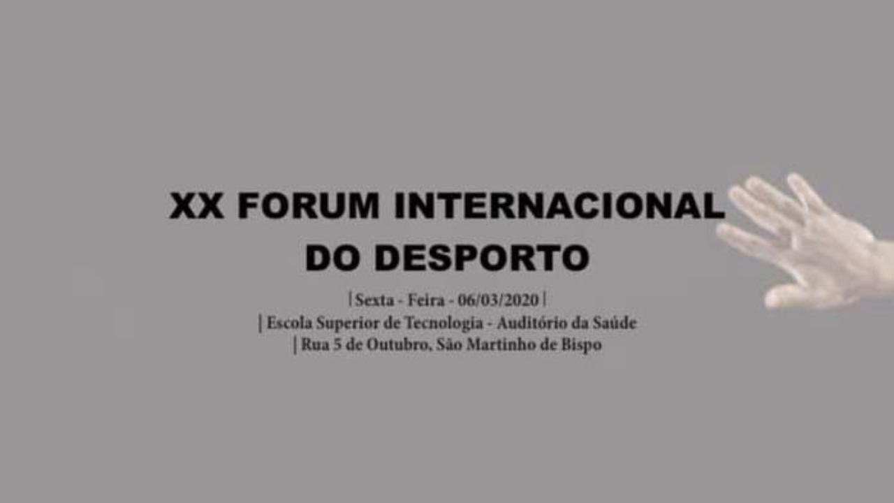 XX Fórum Internacional Desporto