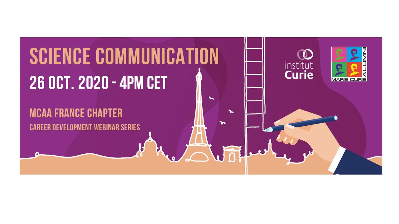 Webinar de Comunicação de Ciência por Marie Curie Alumni Association