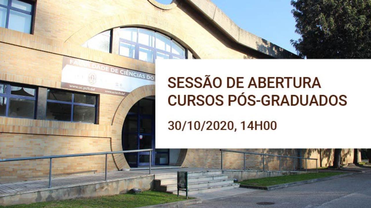 Sessão de abertura cursos pós-graduados