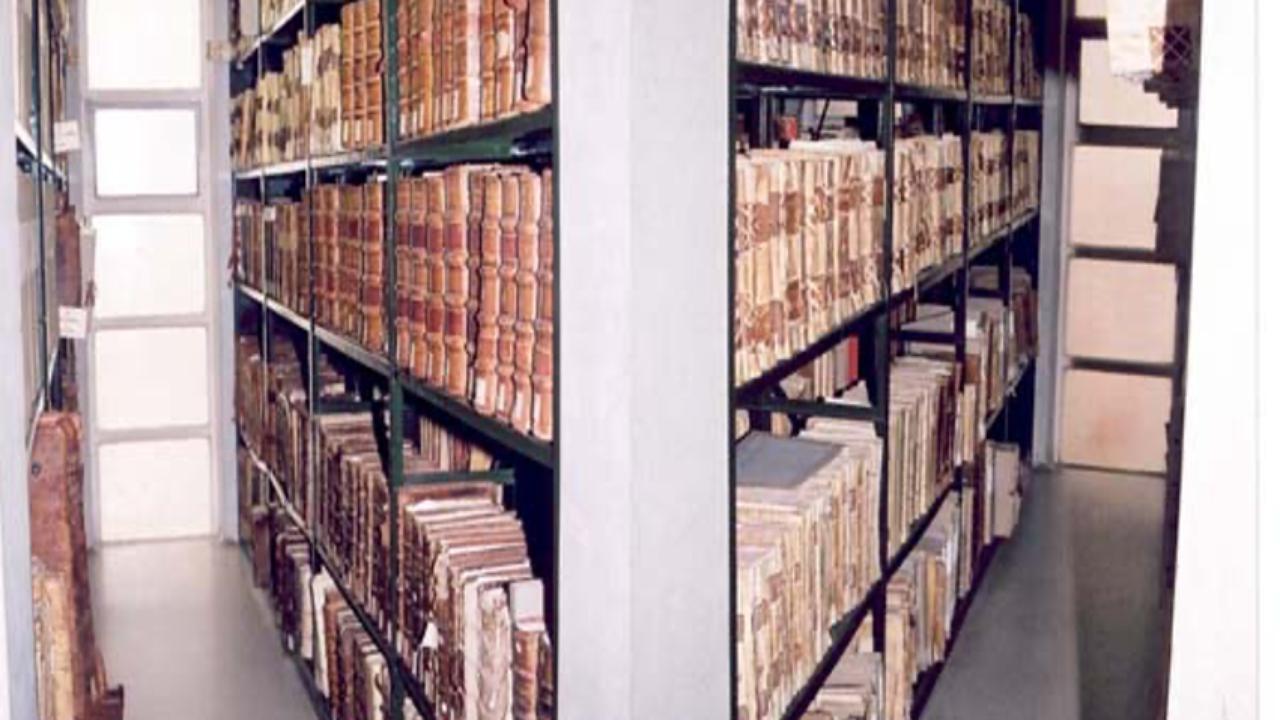Pormenor de depósito do Arquivo