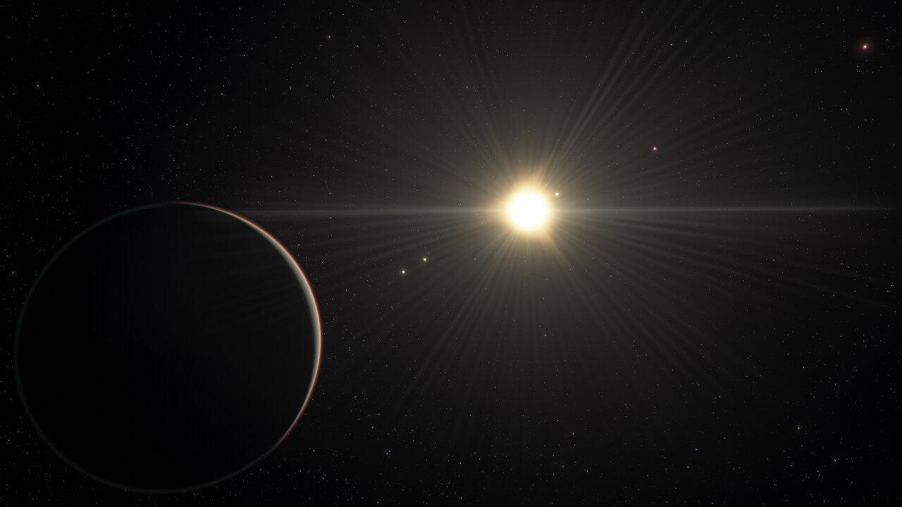 Imagem artística do sistema planetário TOI-178
