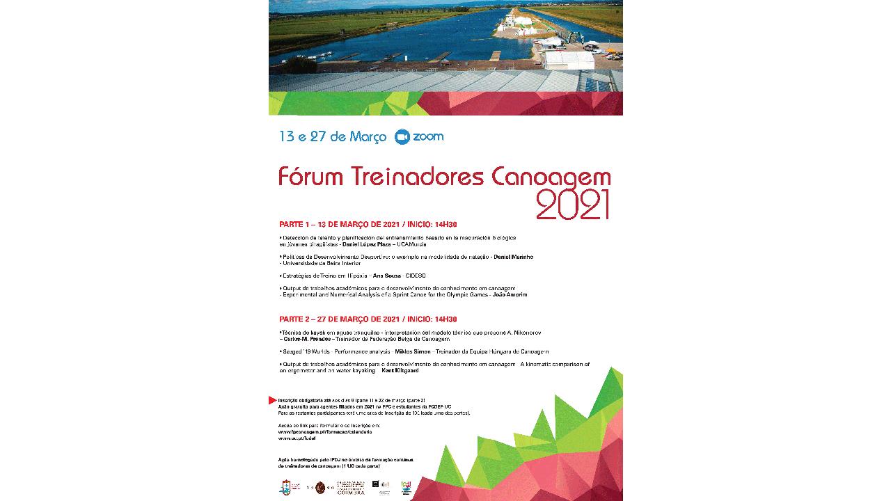 Fórum Treinadores Canoagem 2021