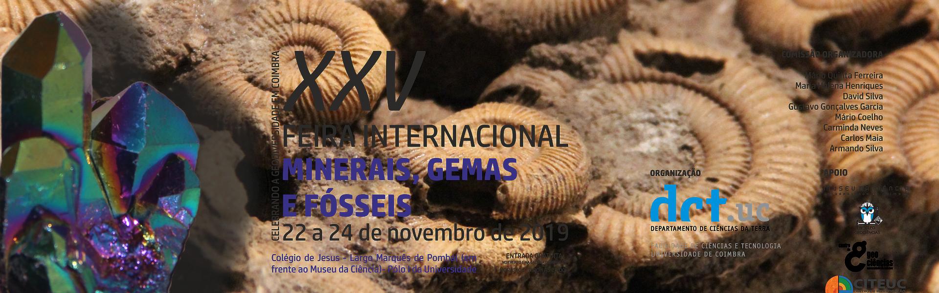XXV Feira Internacional de Minerais, Gemas e Fósseis de Coimbra