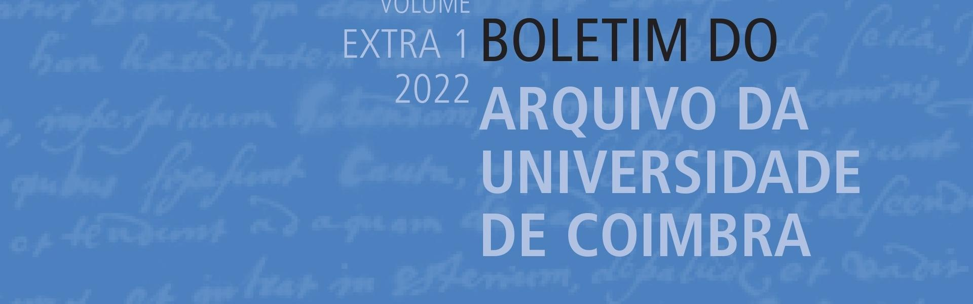 Publicação do Vol. XXXIII, n.º 1 do BAUC