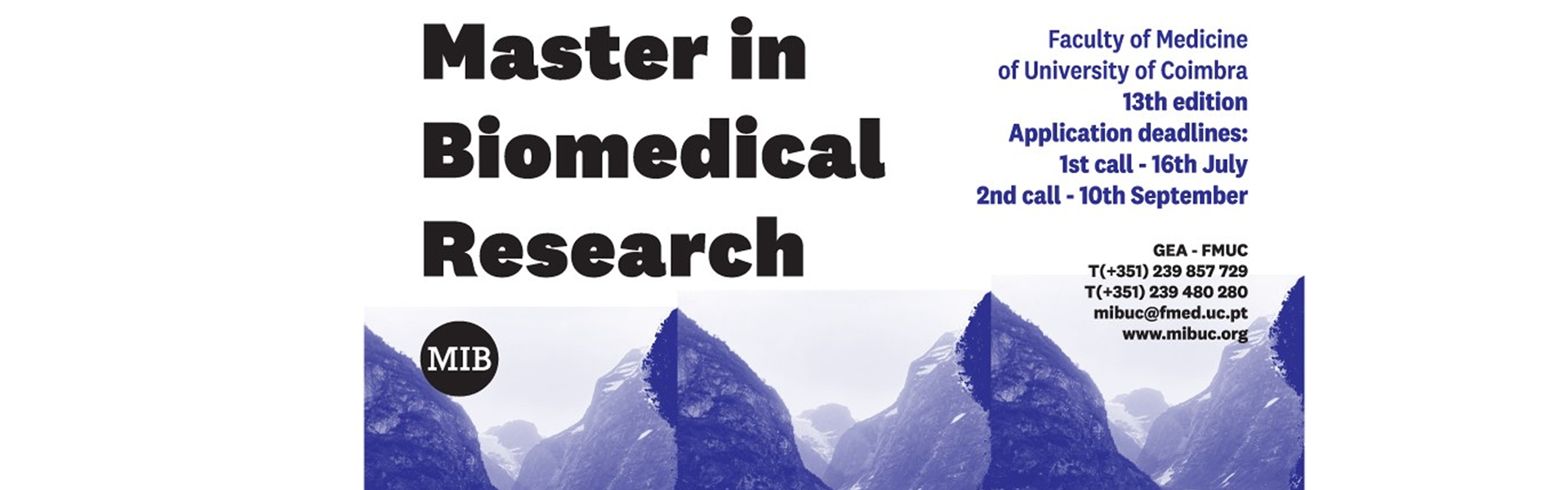 XI Edition of the Master in Biomedical Research